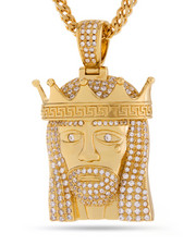 Men - 14k Gold King Of Kings Necklace
