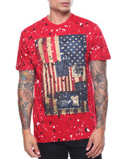 Shirts - S/S Patched Flag Splatter Tee