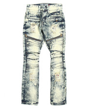 Arcade Styles - Moto Denim Jean With Zippers (8-20)