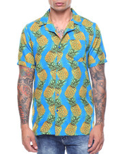 Shirts - S/S Pineapple Printed Woven