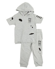 Boys - S/S Back 2 School Hoody & Sweatpants Set (2T-4T)