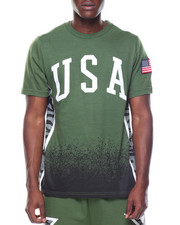 Shirts - Usa Tiger Print T