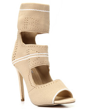 Women - Knit Cut Out Hi Heel Shoe