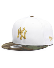 New Era - 9Fifty White Camo Yankees Flag Snapback