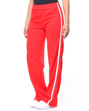 Women - Wide Leg Track Pant/Snap Side