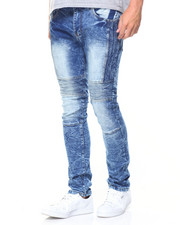 Jeans - Bleach Blue 5 Pocket Trim Jean