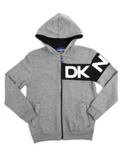 Boys - L/S Heather French Terry Logo Hoody (8-20)