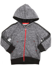 Hoodies - Marled French Terry Hoody (2T-4T)