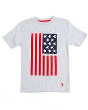 Arcade Styles - S/S Crew Neck Graphic Flagtee (8-20)