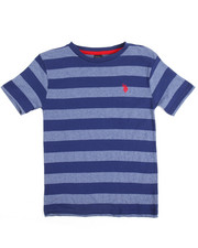 Arcade Styles - S/S Yarn Dyed Heathered Striped Crew Neck Tee (8-20)