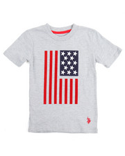 Tops - S/S Crew Neck Graphic Flagtee (4-7)