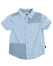 Short-Sleeve - S/S Chambray Patch Woven (4-7)