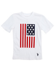 Arcade Styles - S/S Crew Neck Graphic Flagtee (4-7)