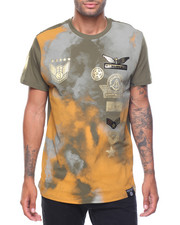 Men - Tie Dye Patch Printed Tee