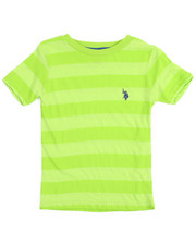 Arcade Styles - S/S Yarn-Dyed Heathered Striped Crew Neck Tee (4-7)