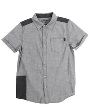 Short-Sleeve - Chambray Repaired Roll Sleeve Woven (8-20)