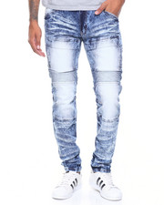 Men - Front Flap Pocket Coated Jeans