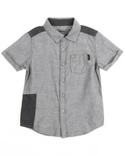 Short-Sleeve - Chambray Repaired Roll Sleeve Woven (4-7)