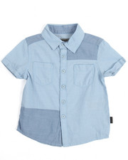 Short-Sleeve - S/S Chambray Patch Woven (2T-4T)