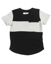 Boys - Color Block Elongated Tee (2T-4T)