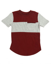 Boys - Color Block Elongated Tee (4-7)