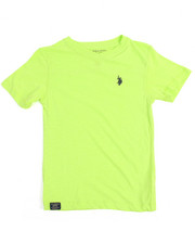 Boys - S/S Washed Slub V-neck Tee (8-20)