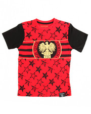Boys - Americana Gold Piping Tee (8-20)