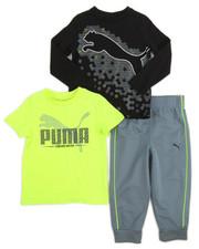 Puma - 3 Piece Tees & Jogger Set (2T-4T)
