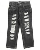 Rip & Repair Denim Jeans (2T-4T)