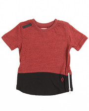 Tops - Marled Color Block Elongated Tee (2T-4T)