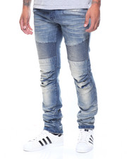 Buyers Picks - Pleated Knee Moto Denim Jeans