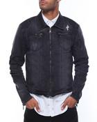 Zip Pockets Biker Denim Jacket