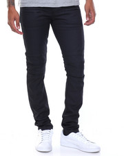 Men - Coated Moto Rip Jeans