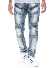 Men - Zip Trim Moto Denim Jeans