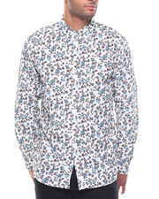 Button-downs - L/S Roses Woven