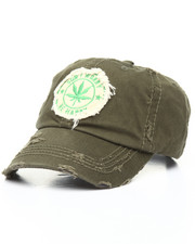 Men - Marijuana Plant Distressed Dad Hat