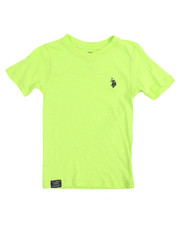 Boys - S/S Washed Slub V-neck Tee (4-7)