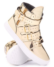 Footwear - Straight Jacket Liquid Gold Leather Sneakers