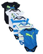 Puma - 5 Pack Bodysuit Short Set (Infant)