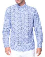 Button-downs - L/S All Over Print Woven
