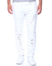 Jeans & Pants - Rips Stretch Slim Moto Jeans