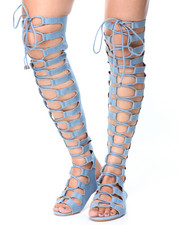 Sandals - Gladiator Lace Up Sandals