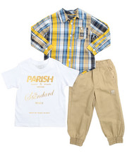Sets - 3 Piece Woven, Tee, & Jogger Set (4-7)
