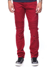 Men - Rips Stretch Slim Moto Jeans