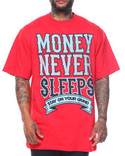 Men - Money Never Sleeps S/S Tee (B&T)