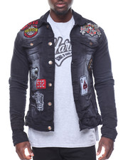 Men - Patchwork Denim Jacket