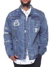 Men - Destroyed Denim Jacket (B&T)