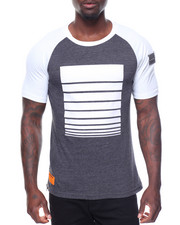 Men - S/S Printed Raglan Tee Side Zips