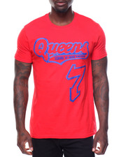 Men - S/S Queens Tee Raised Letters