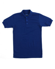 Sizes 8-20 - Big Kids - S/S Solid Pique Polo (8-20)
